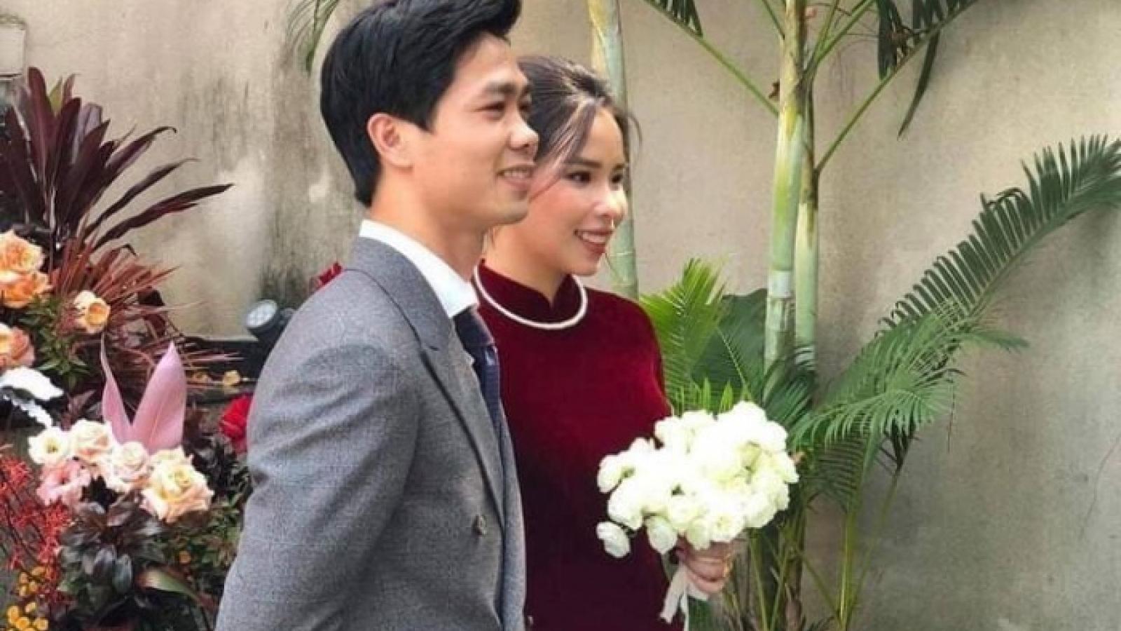 Đám cưới Công Phượng - Viên Minh: Cô dâu chú rể chính thức lộ diện