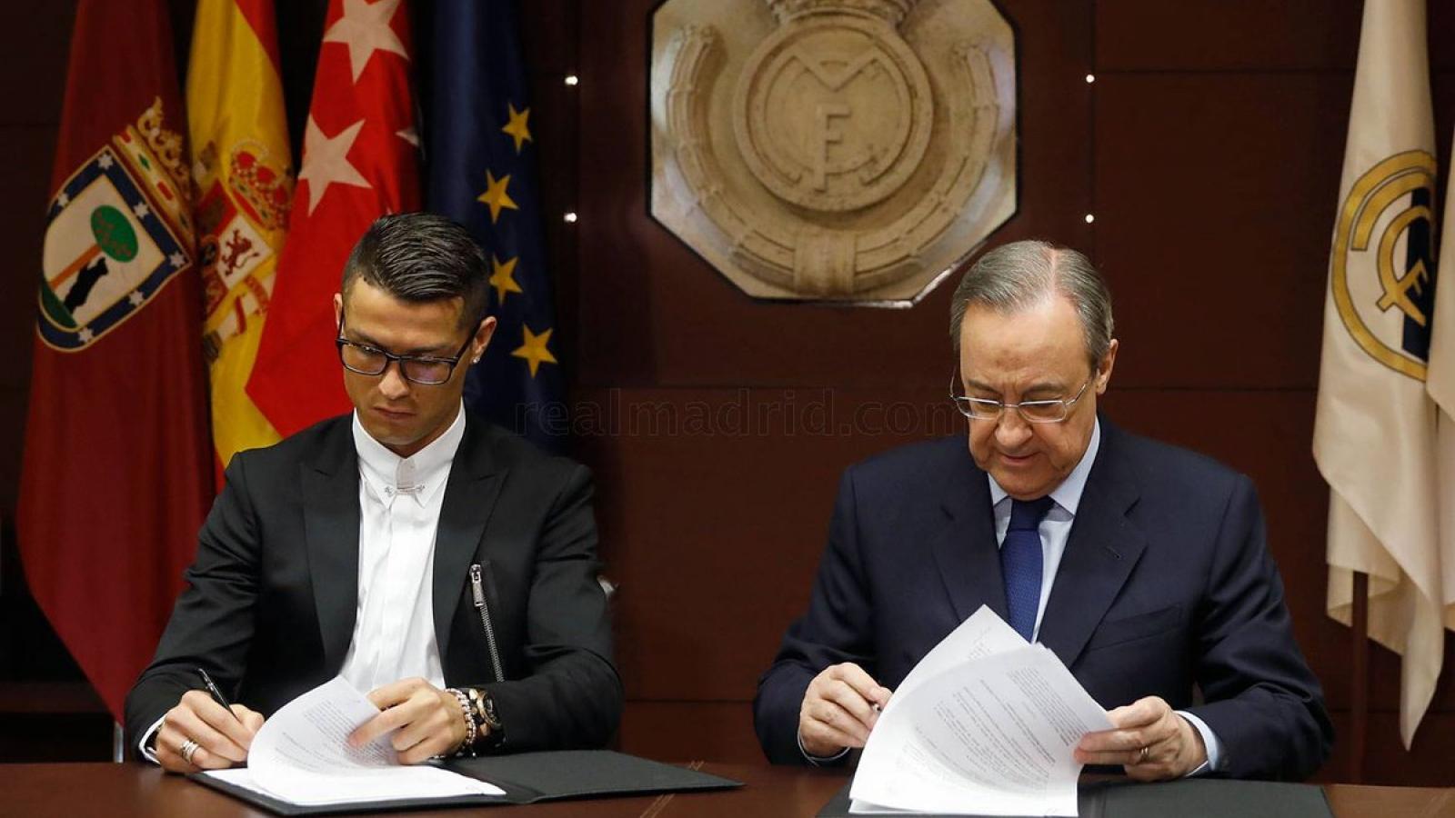 Ngày này năm xưa: Ronaldo ký hợp đồng 5 năm với Real Madrid