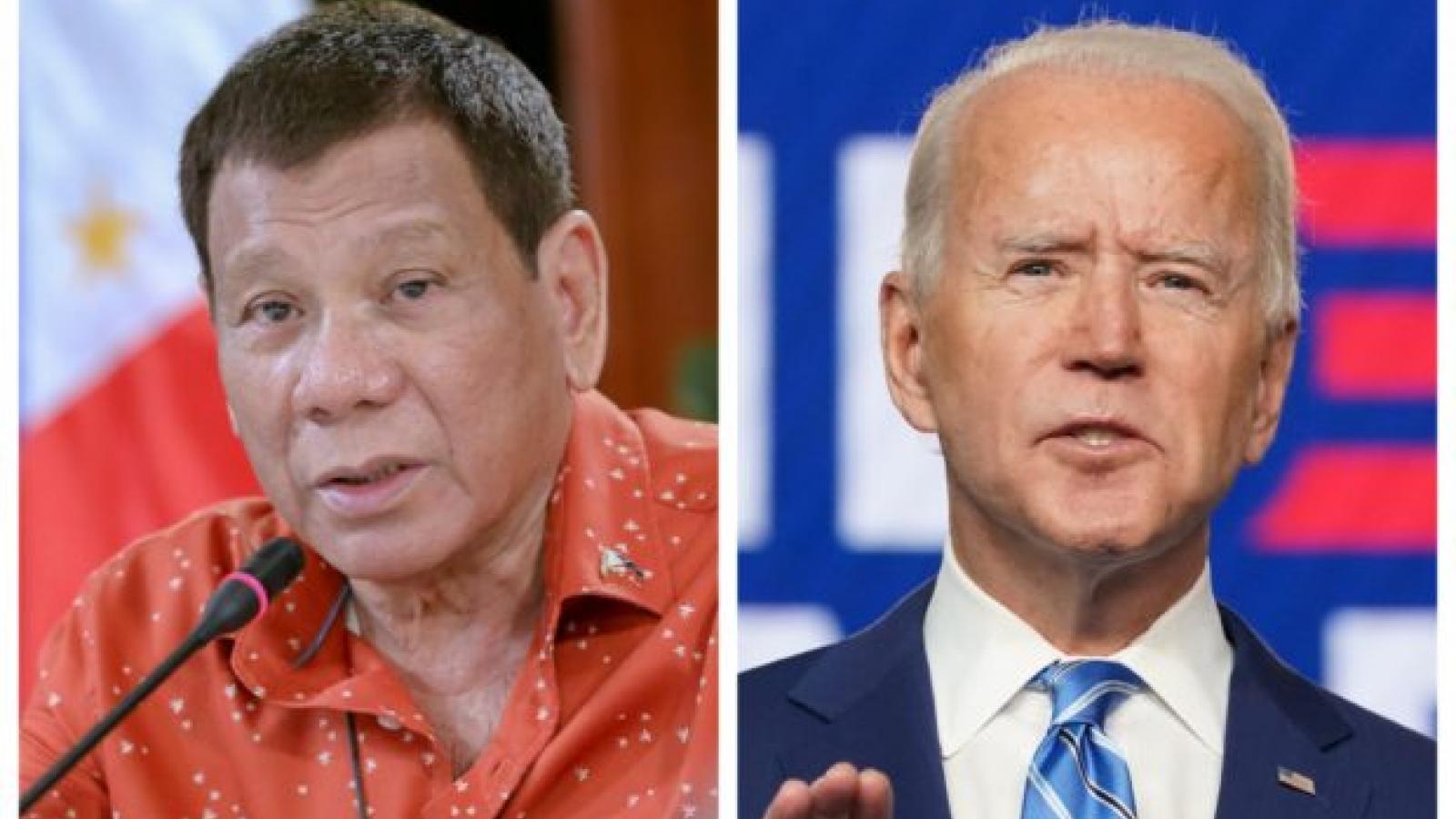 Chính phủ Philippines tuyên bố thúc đẩy quan hệ với chính quyền của Joe Biden
