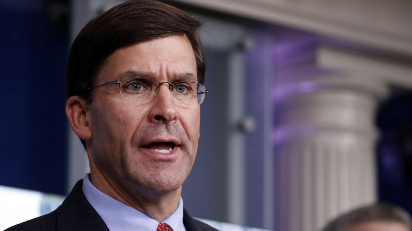 Bộ trưởng Quốc phòng Mỹ chuẩn bị thư xin từ chức?