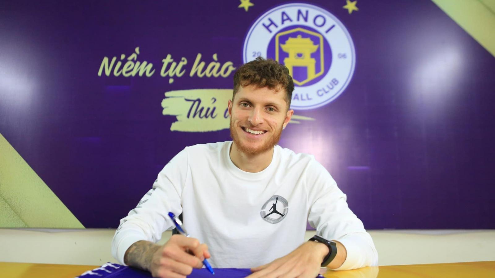 """Tiền đạo Geovane: """"Mọi cầu thủ ở V-League đều muốn khoác áo Hà Nội FC"""""""