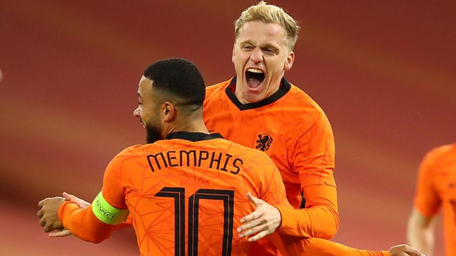 Hà Lan 1-1 Tây Ban Nha: Van De Beek chứng tỏ duyên ghi bàn