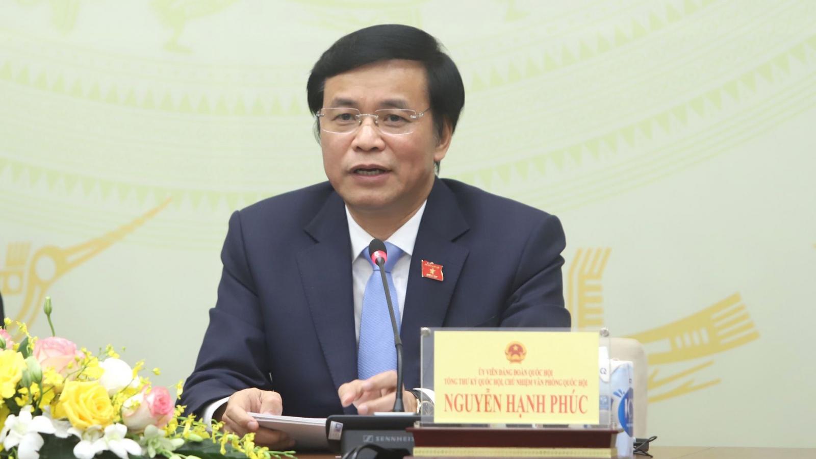 Tổng Thư ký Quốc hội: Dự luật còn nhiều ý kiến, Chính phủ tiếp thu, nghiên cứu