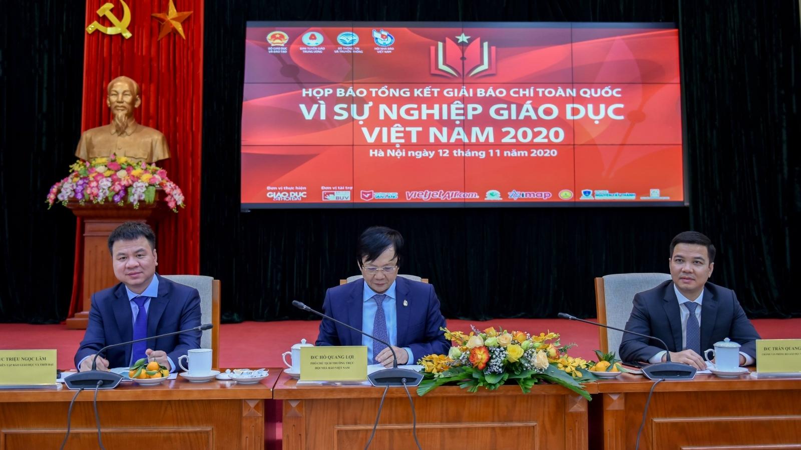 Hơn 700 tác phẩm tham dự giải báo chí toàn quốc Vì sự nghiệp giáo dục Việt Nam