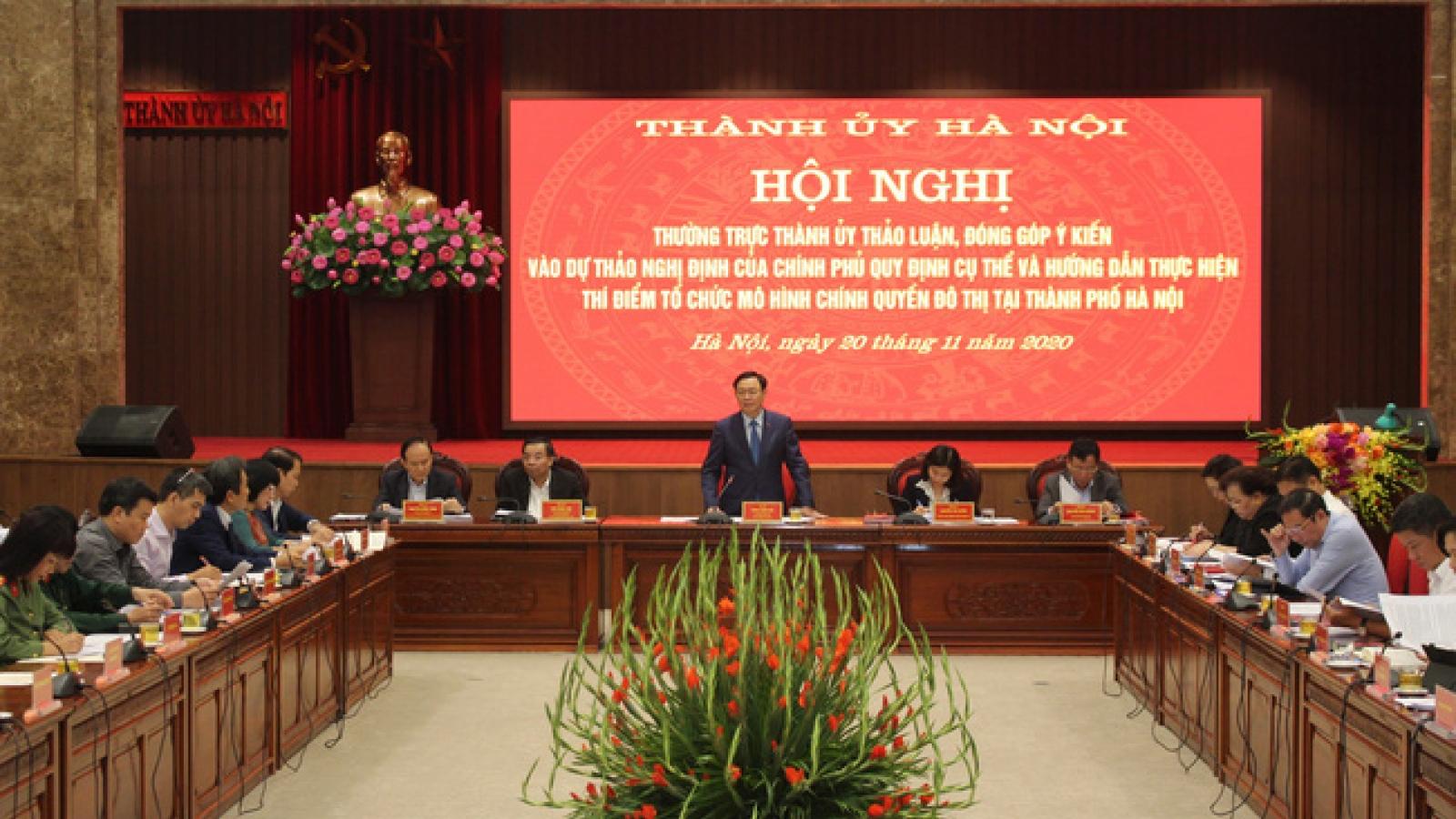 Hà Nội thảo luận thí điểm tổ chức mô hình chính quyền đô thị