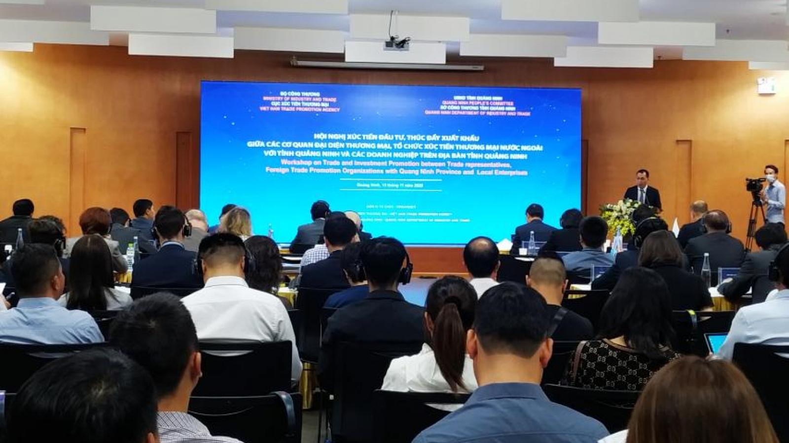 Quảng Ninh đẩy mạnh xúc tiến đầu tư với các tổ chức, đại diện thương mại nước ngoài