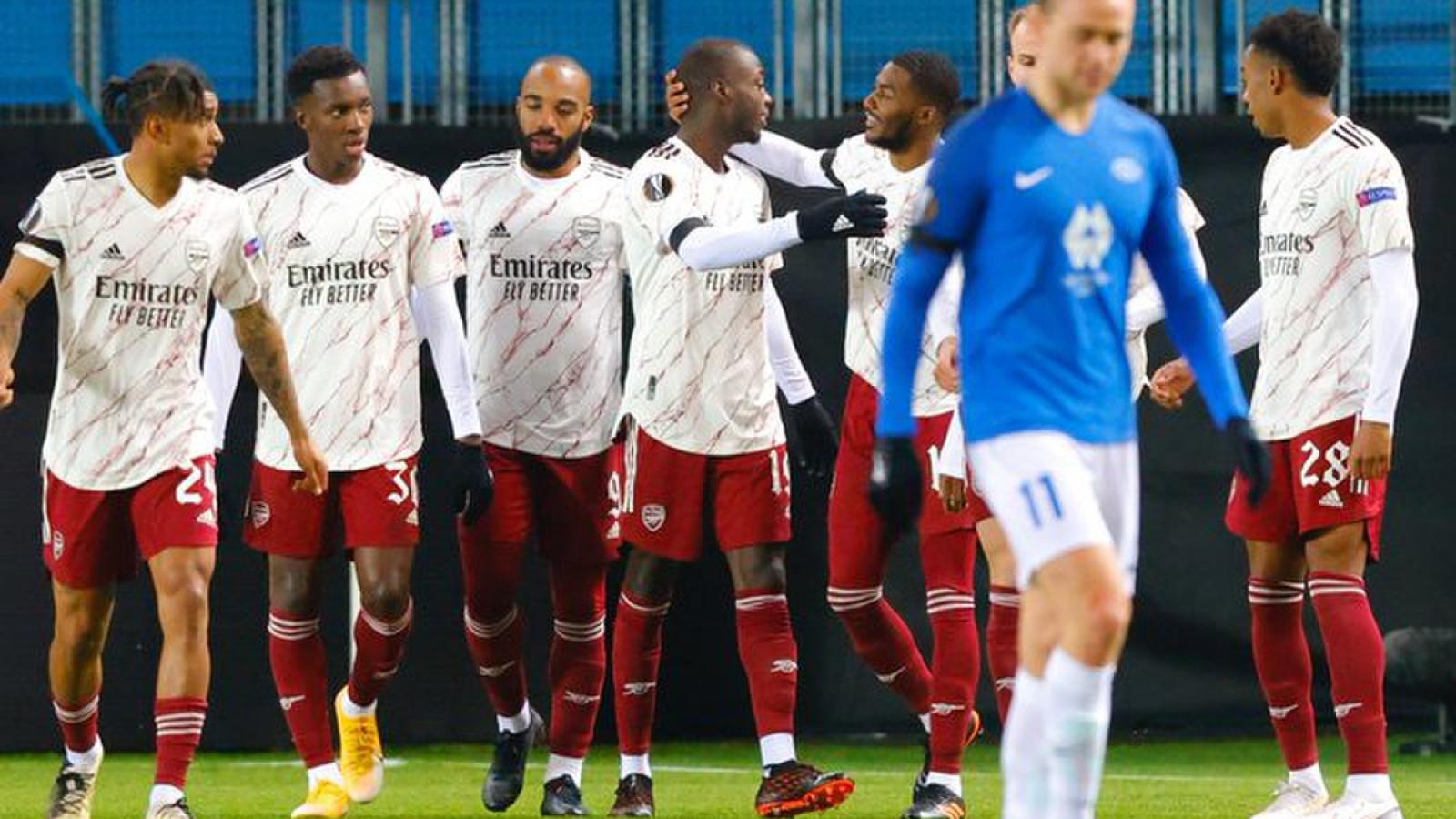Thắng đậm trên sân khách, Arsenal vào vòng 1/16 Europa League