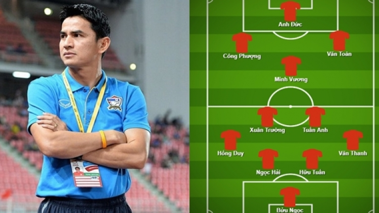Đội hình toàn cầu thủ ĐT Việt Nam chờ đợi Kiatisak tại HAGL
