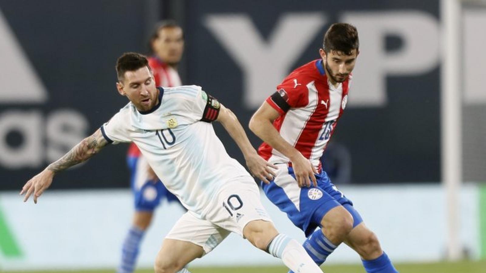 VAR từ chối bàn thắng của Messi, Argentina bị Paraguay cầm hòa