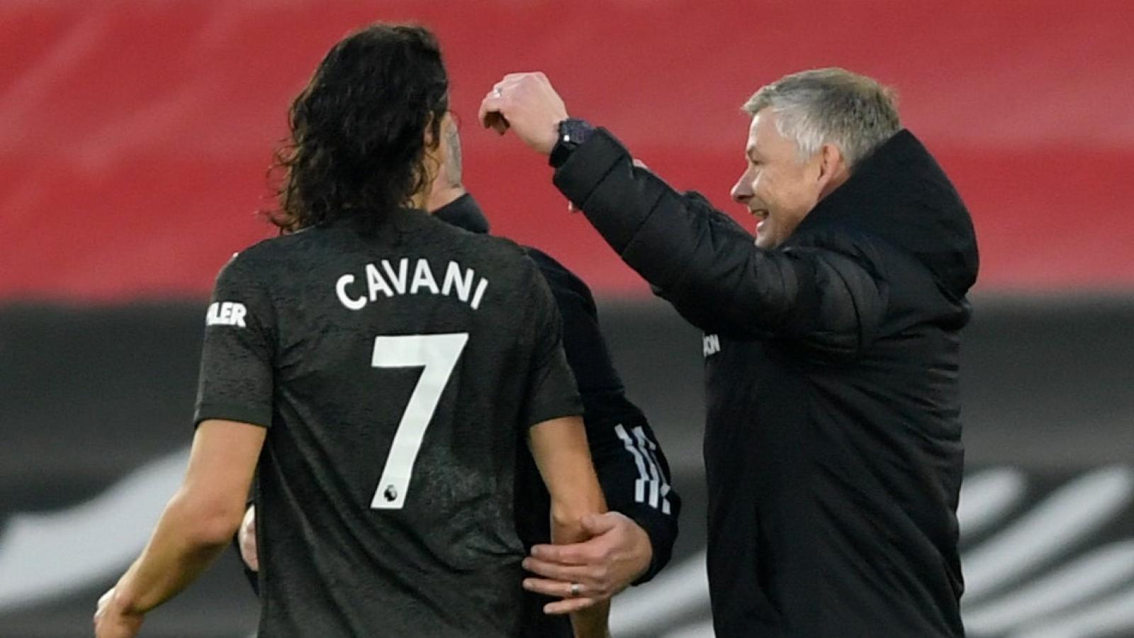 Cavani tái hiện kỳ tích của Solskjaer ở Premier League cách đây 21 năm