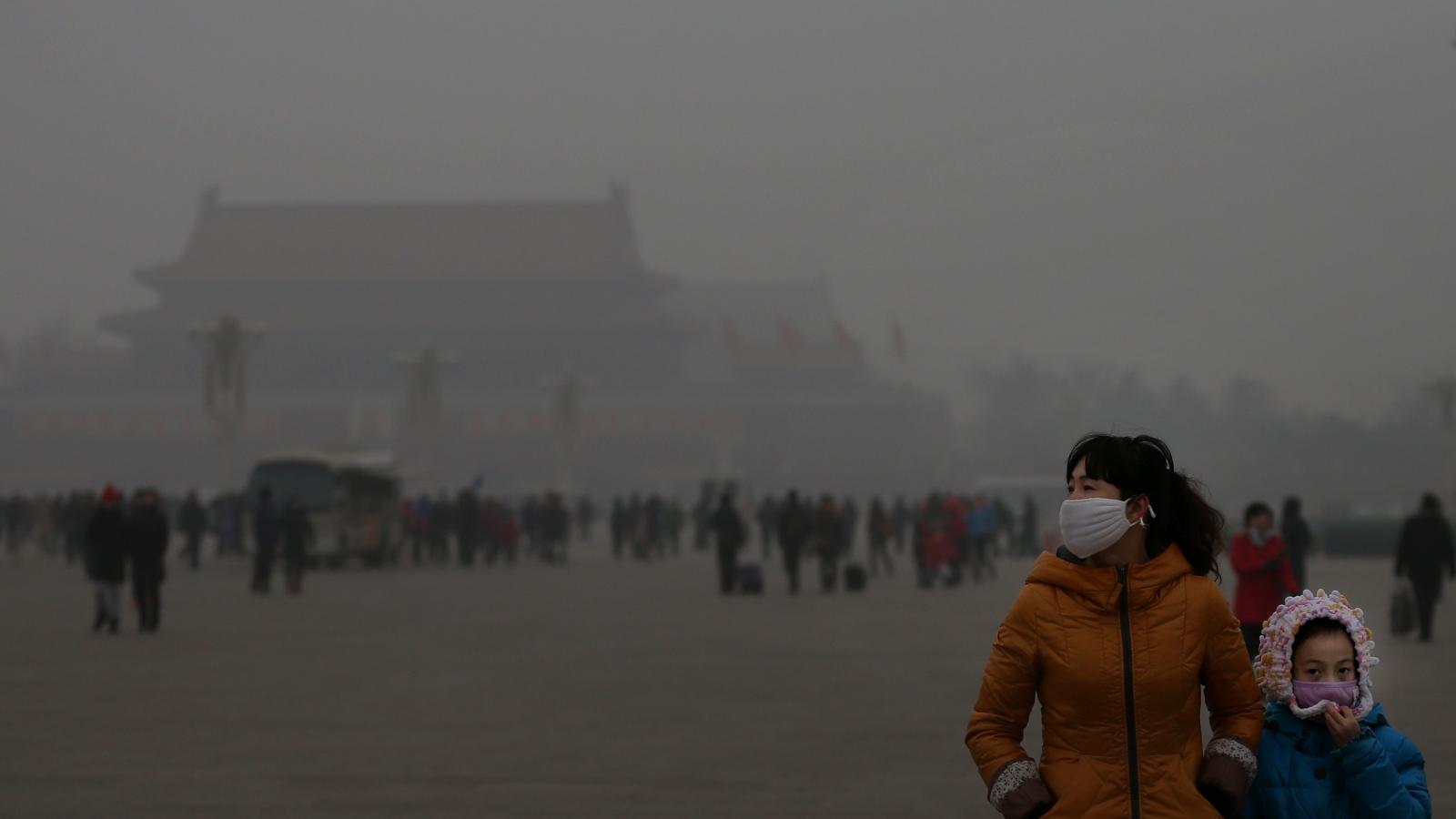 Trung Quốc ban hành cảnh báo vàng về ô nhiễm không khí tại Bắc Kinh