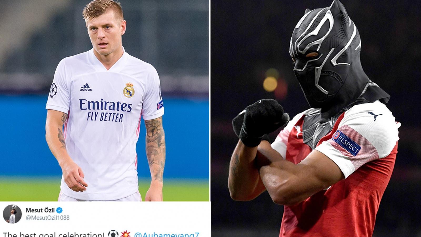 Ozil tỏa sáng trong cuộc khẩu chiến giữa Toni Kroos và Aubameyang