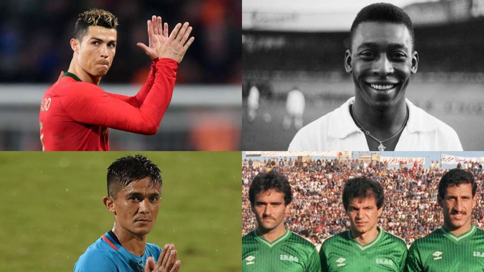 Top 10 chân sút xuất sắc nhất ĐTQG trên toàn thế giới: Ronaldo thua một người