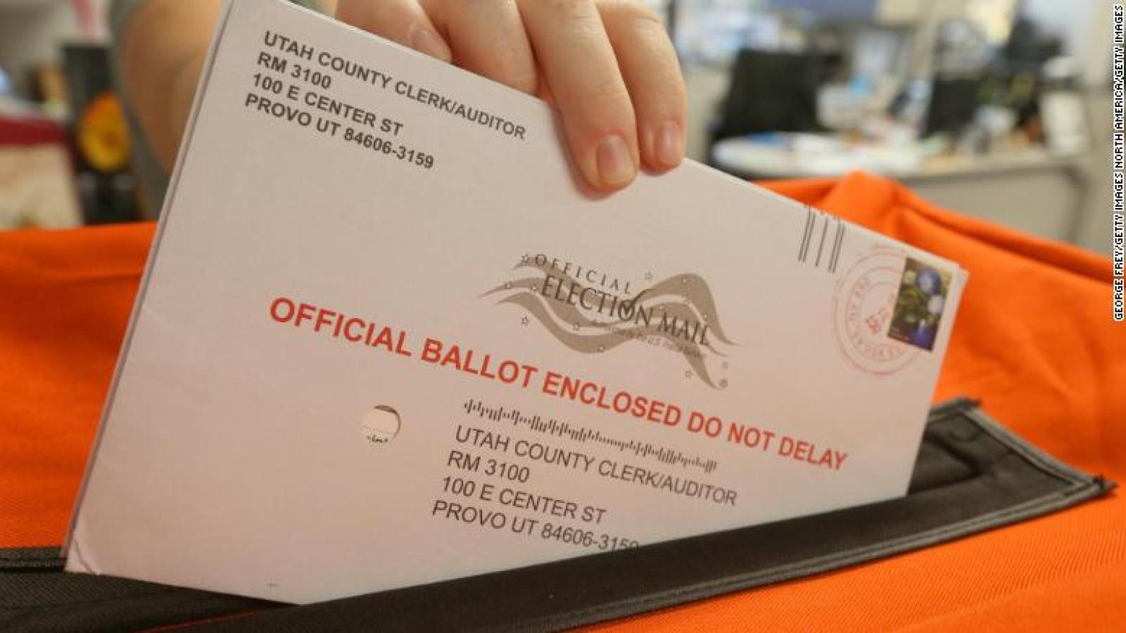 150.000 lá phiếu không kịp chuyển phát trước ngày bầu cử Mỹ