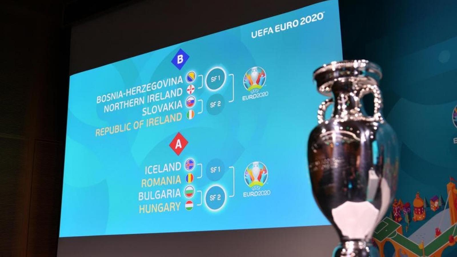"""Lịch thi đấu vòng loại EURO 2020: """"Những tấm vé vàng"""" thuộc về ai?"""