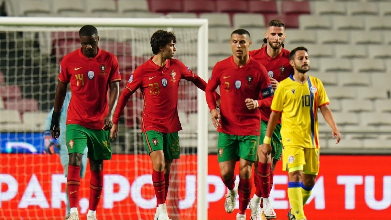 Ronaldo lập công, Bồ Đào Nha thắng 7-0 Andorra