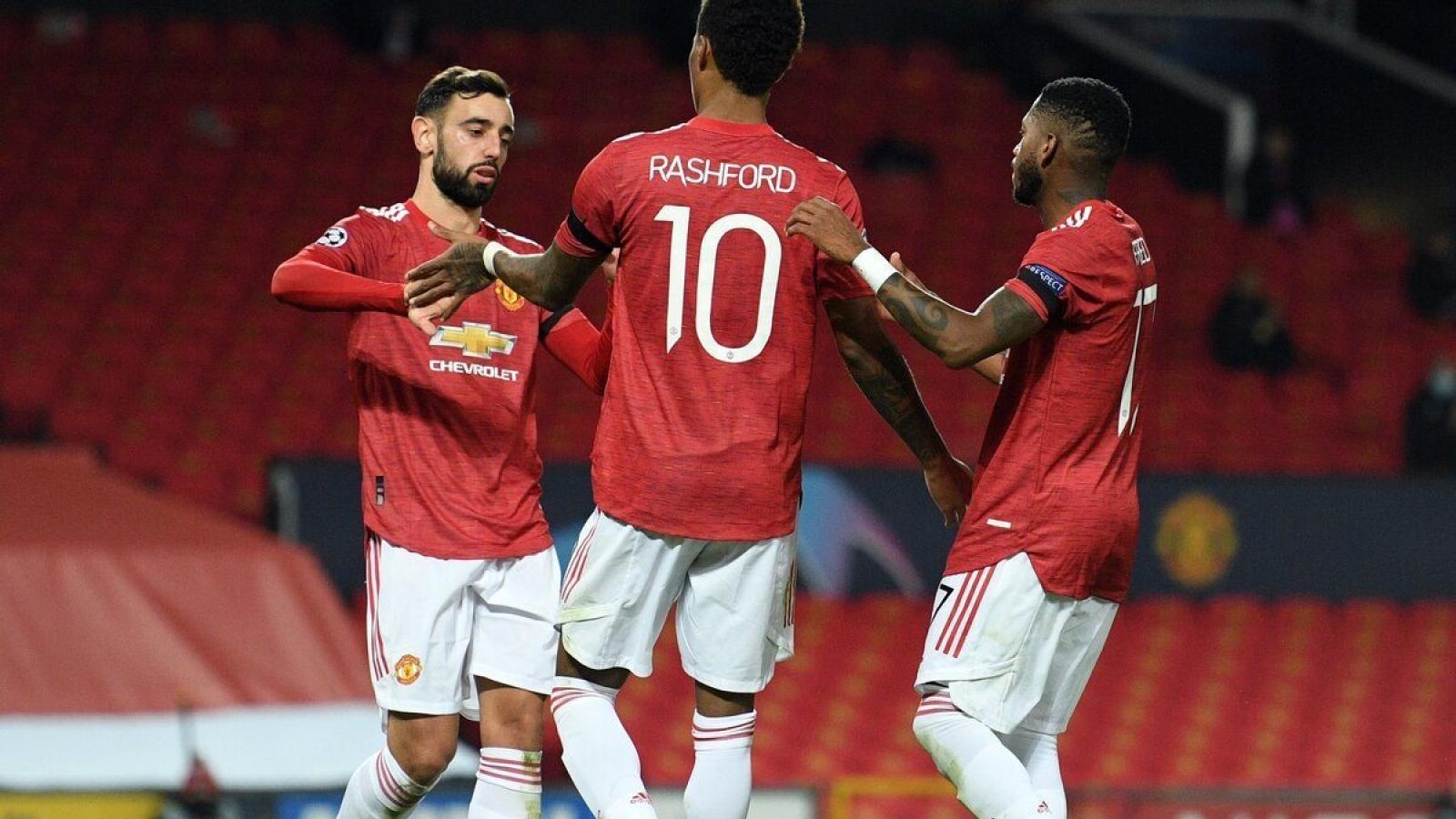 """Bruno Fernandes giúp MU """"đòi nợ"""" Istanbul, tiến sát vòng 1/8 Champions League"""