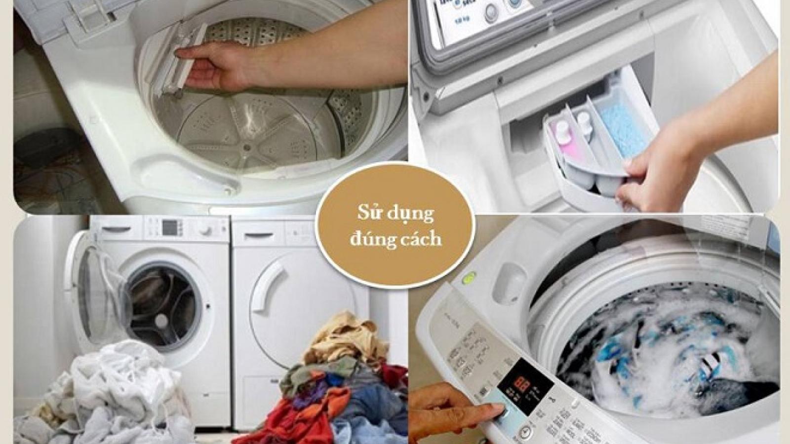 """""""Bách khoa"""" bí kíp giặt quần áo bằng máy giặt bạn nên biết"""