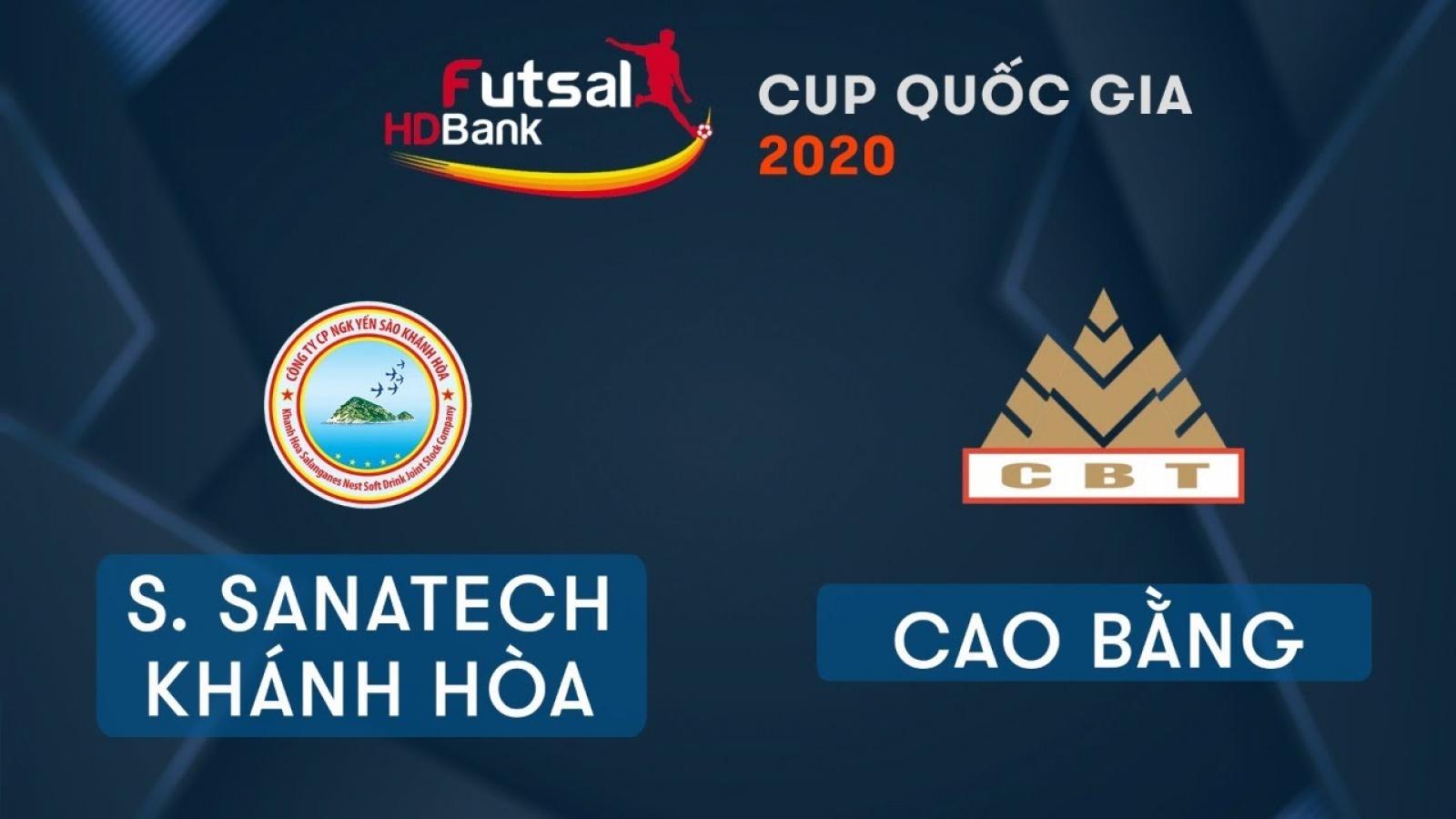 TRỰC TIẾP S.Sanatech Khánh Hòa vs Cao Bằng - Giải Futsal HDBank Cúp Quốc gia 2020