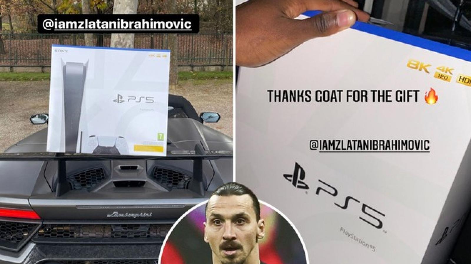 Máy PS5 vừa ra mắt, Ibrahimovic đã mua tặng hàng loạt đồng đội
