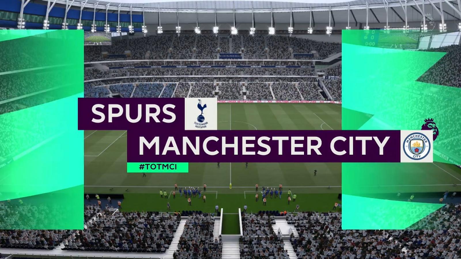 """VIDEO: Dự đoán kết quả """"đại chiến"""" Tottenham - Man City bằng game FIFA 21"""
