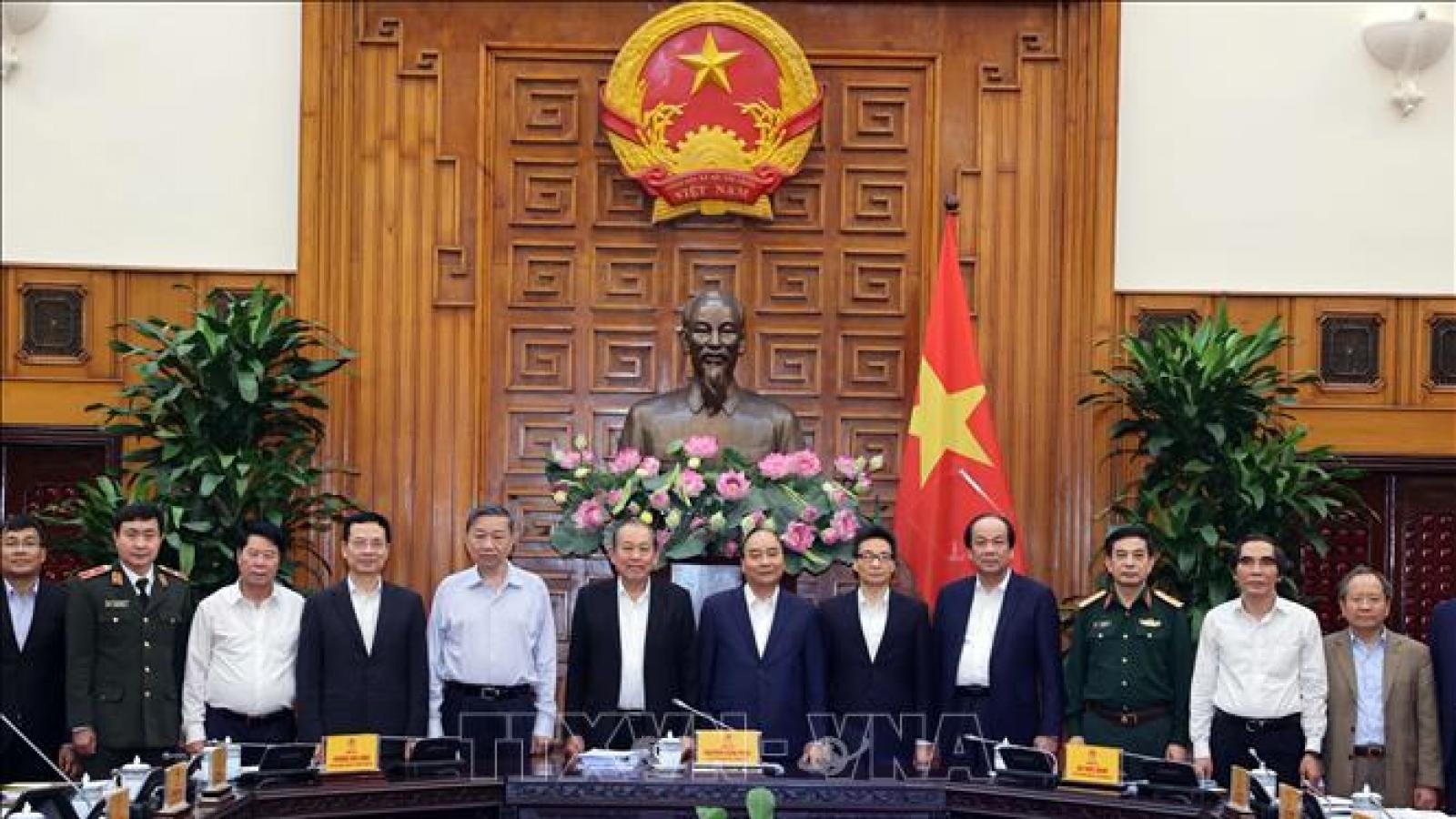 Thủ tướng Nguyễn Xuân Phúc chủ trì họp Ban Chỉ đạo An toàn, An ninh mạng quốc gia