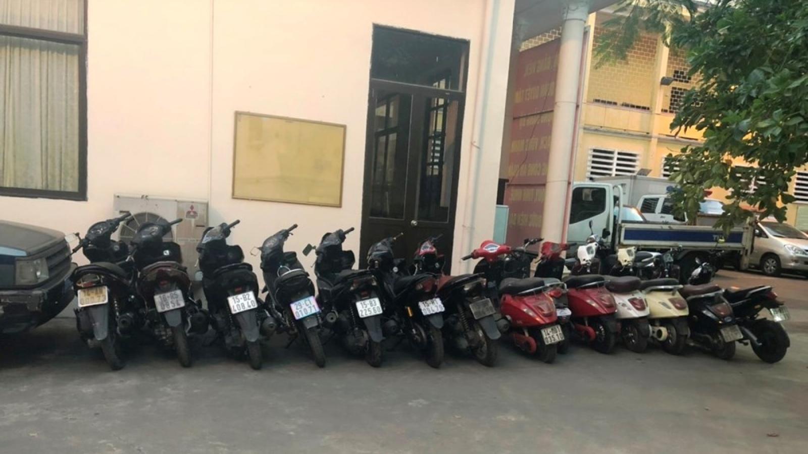 Hải Phòng bắt giữ cặp tình nhân giả chuyên trộm cắp xe điện, xe máy
