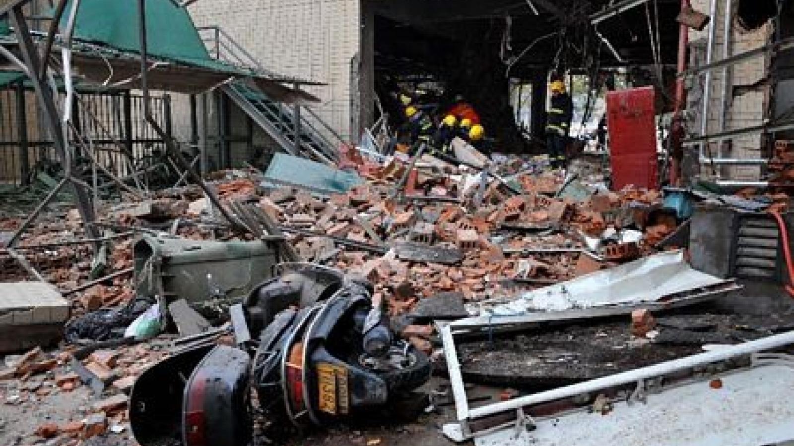 34 người bị thương trong vụ nổ nhà hàng ở Hồ Nam, Trung Quốc