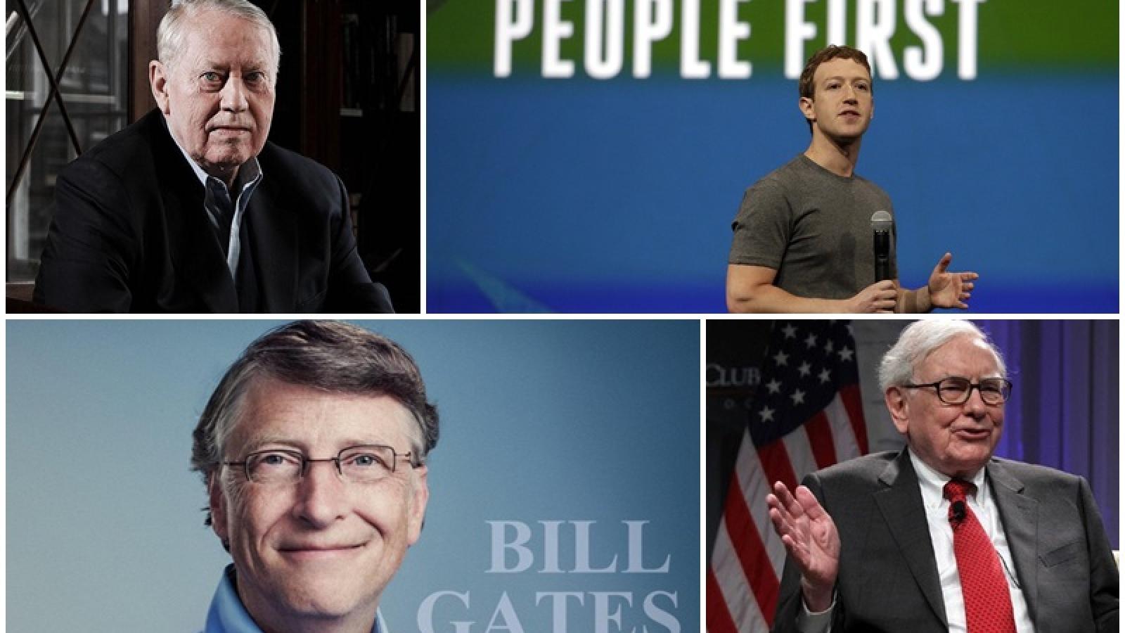 Những vị tỷ phú không tiếc tiền làm từ thiện
