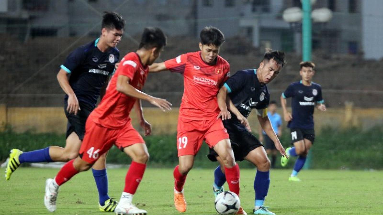 Danh Trung và Minh Bình ghi bàn, U22 Việt Nam đánh bại Phố Hiến