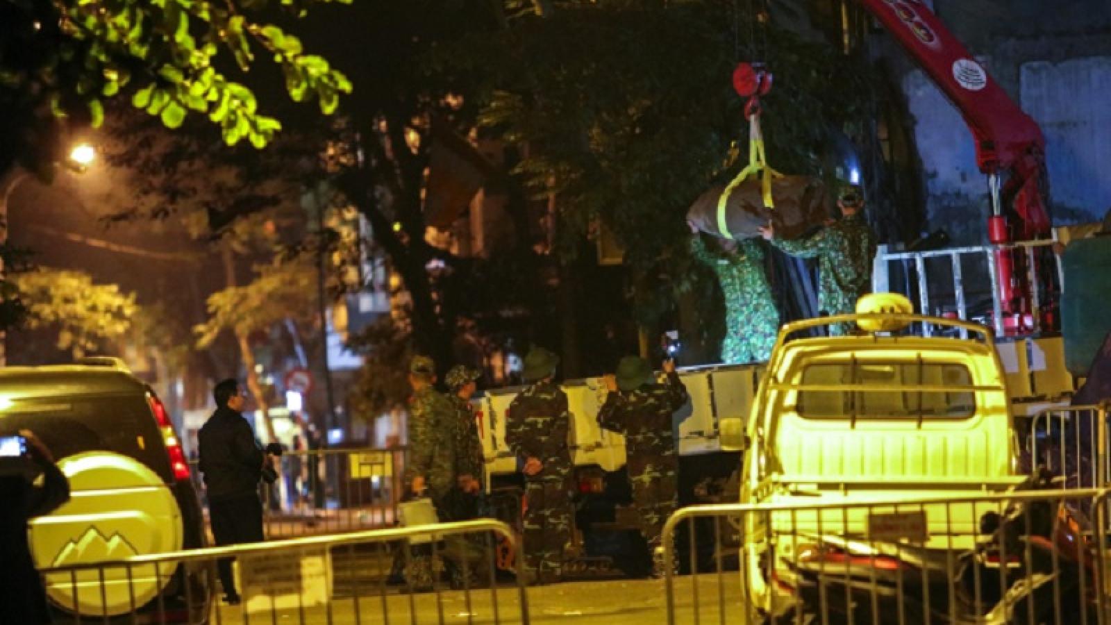 Hủy nổ thành công quả bom 340kg phát hiện ở phố Cửa Bắc, Hà Nội