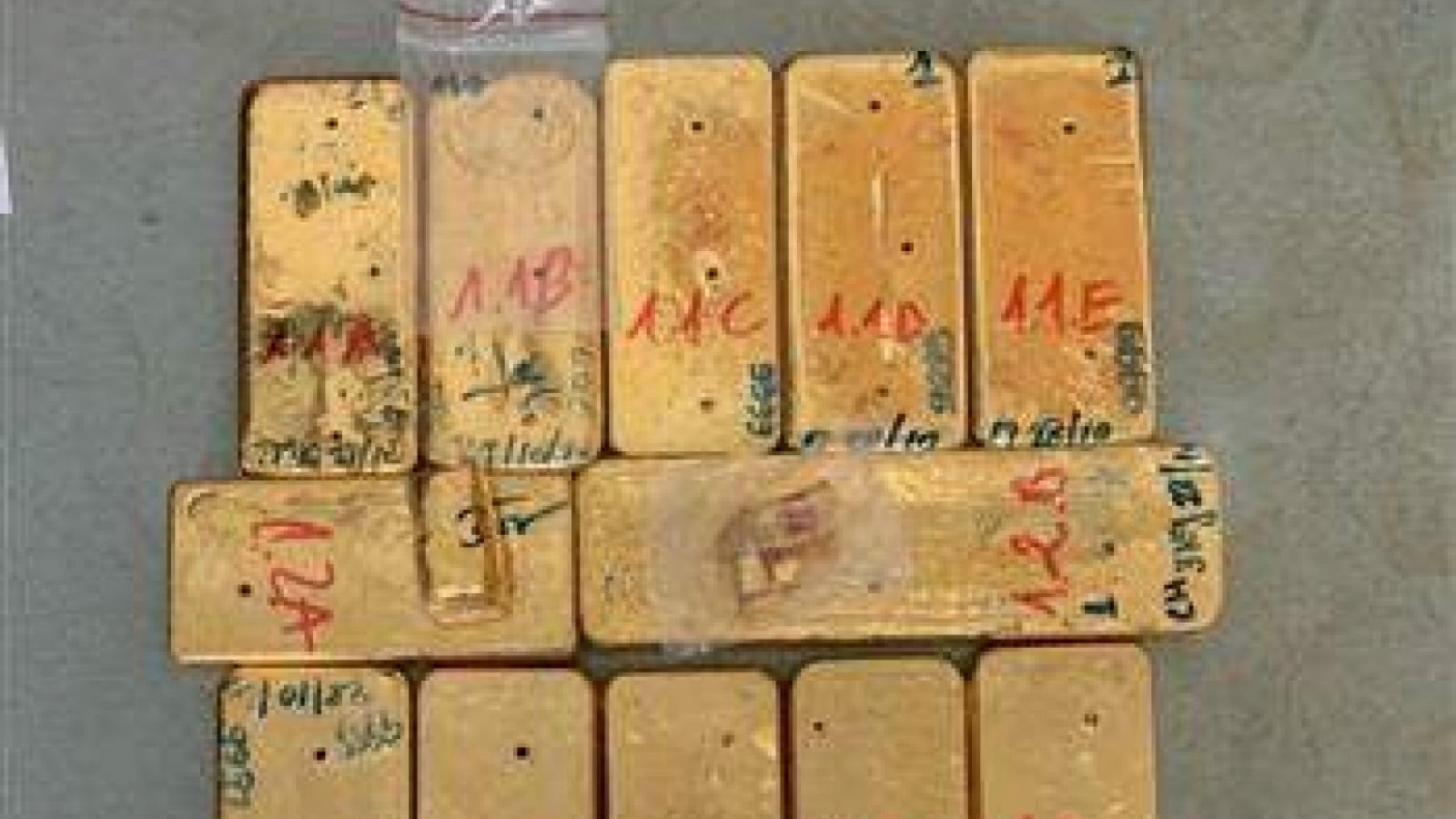 Tiếp tục bắt và truy nã các đối tượng trong vụ vận chuyển trái phép 51kg vàng