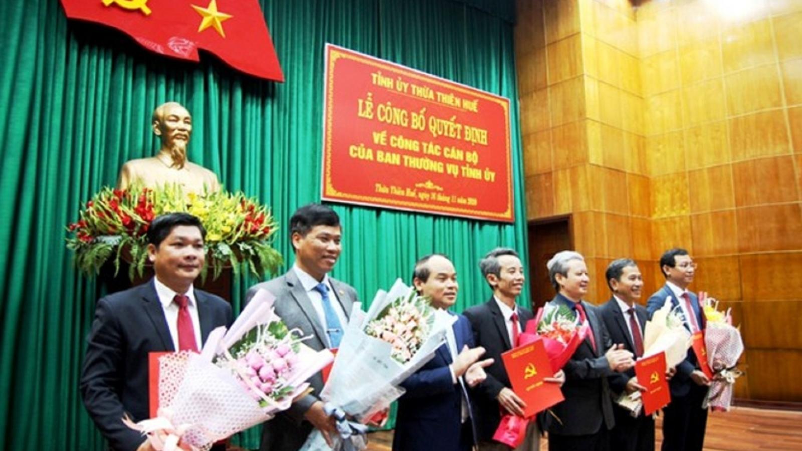 Thừa Thiên Huế công bố quyết định điều động, bổ nhiệm cán bộ