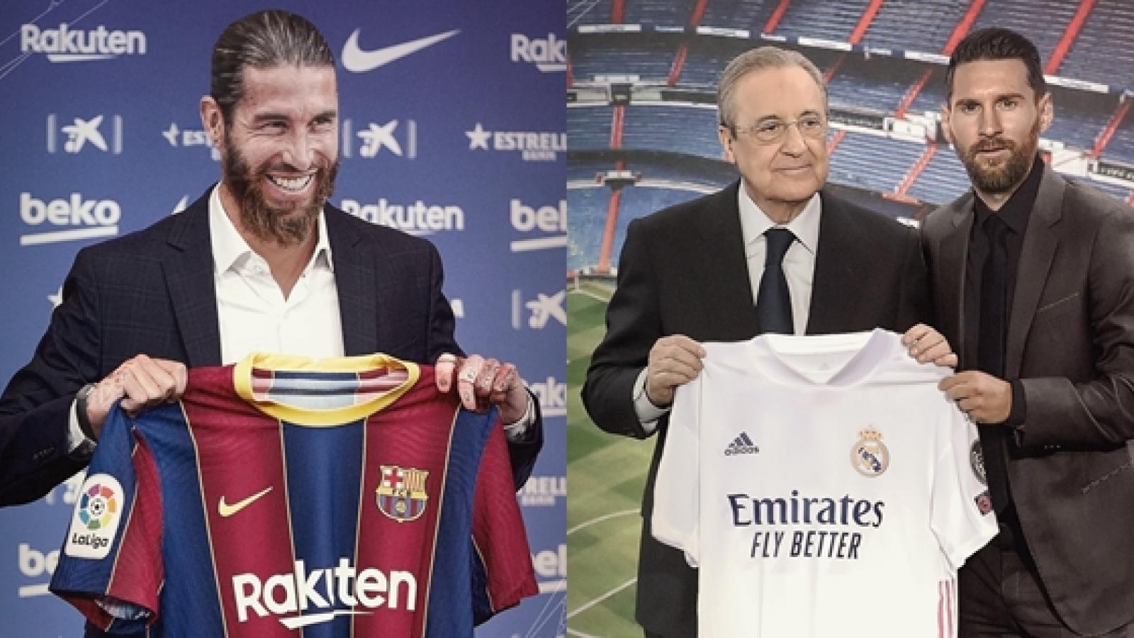 Vũ trụ bóng đá ngược đời: Messi khoác áo Real, Ramos gia nhập Barca