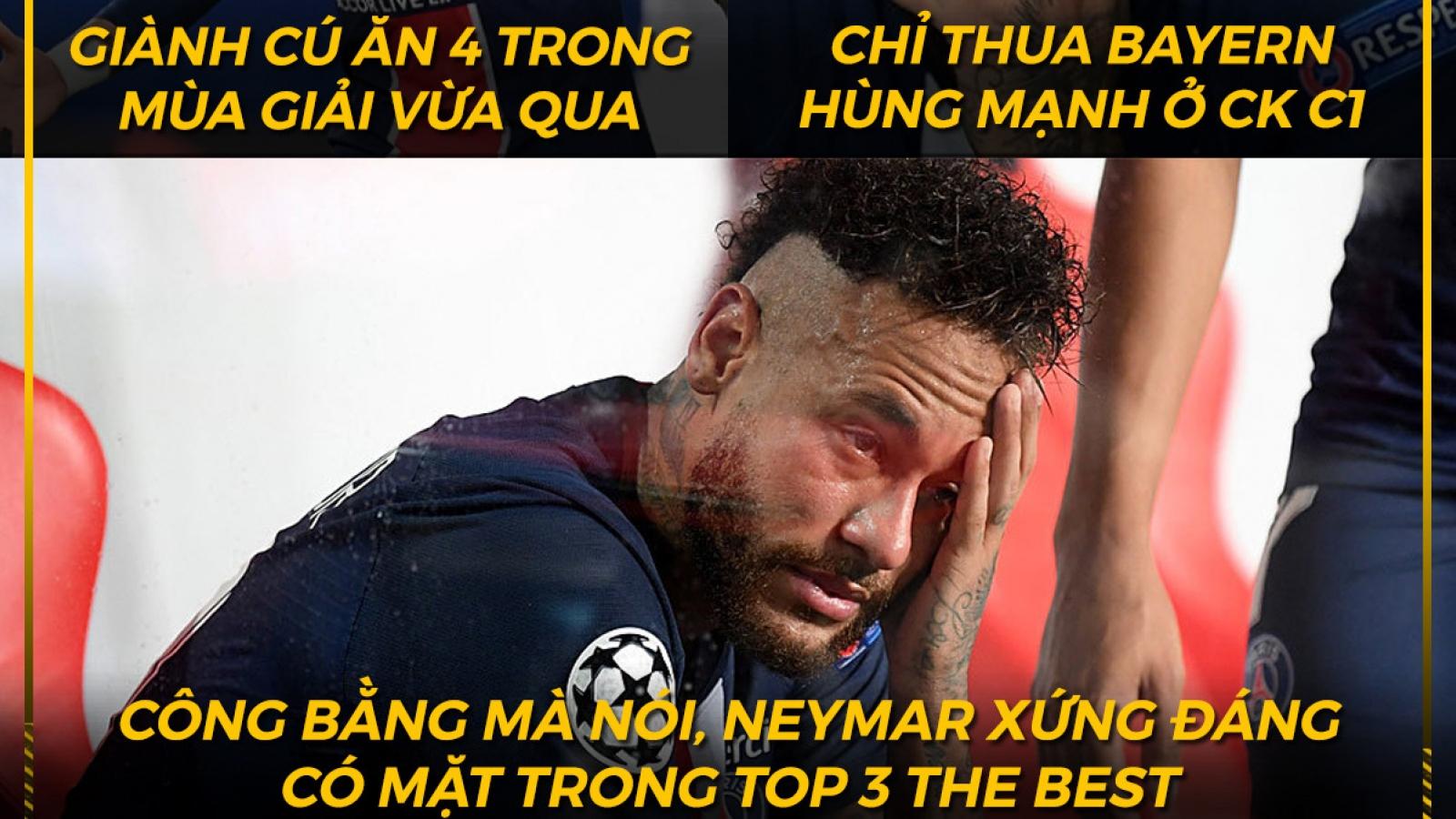 """Biếm họa 24h: Neymar """"cay đắng"""" bị loại khỏi top 3 The Best"""