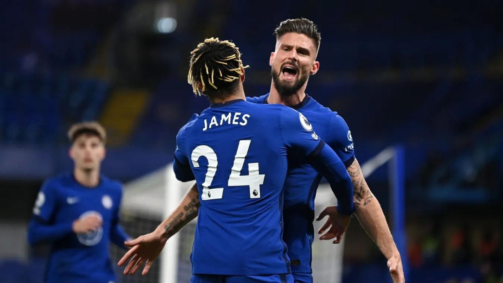 Giroud lại ghi bàn, Chelsea tạm thời lên đỉnh Ngoại hạng Anh