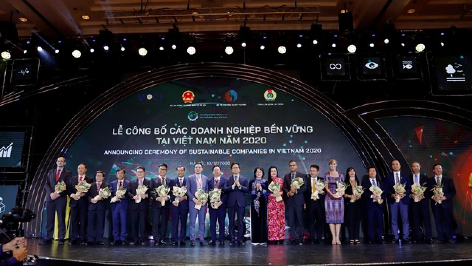Phó Chủ tịch nước Đặng Thị Ngọc Thịnh dự lễ công bố doanh nghiệp bền vững năm 2020