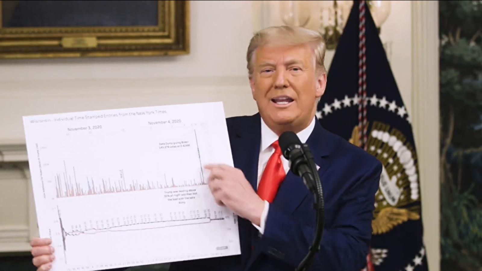 Ông Trump tuyên bố bảo vệ hệ thống bầu cử Mỹ khỏi bị tấn công và bao vây