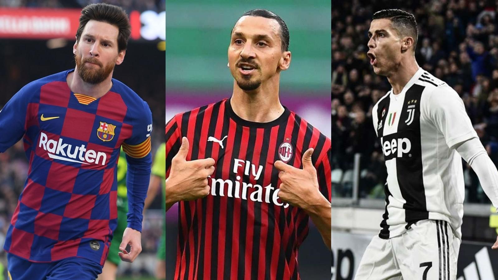 """Top 10 cầu thủ """"toàn năng"""" nhất 2020: Ibrahimovic """"chung mâm"""" với Messi và Ronaldo"""