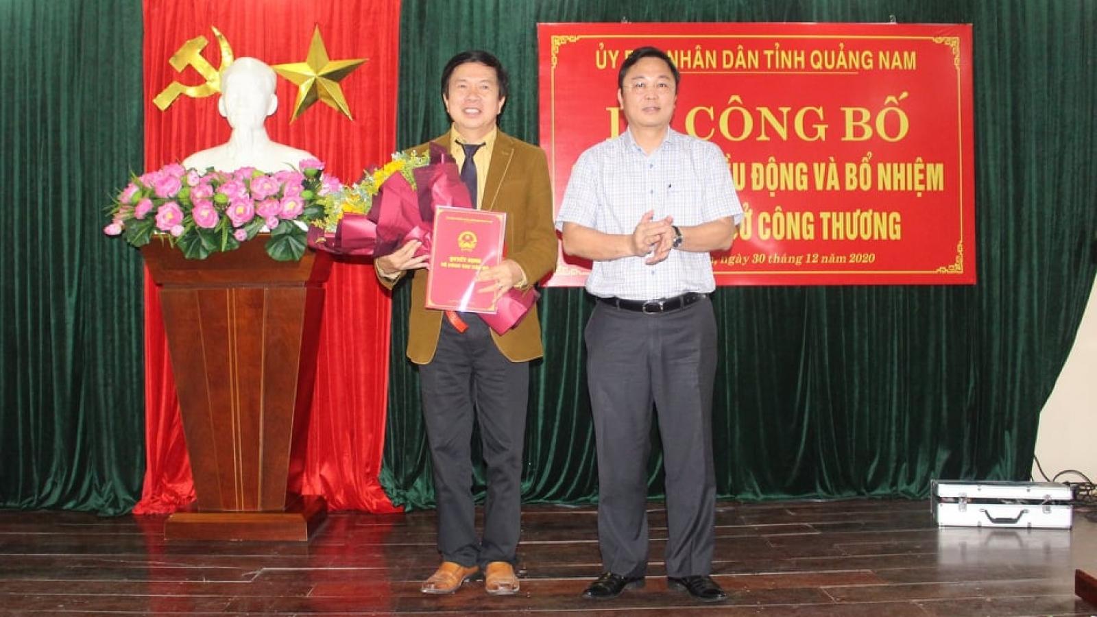 Ông Đặng Bá Dự giữ chức Giám đốc sở Công Thương tỉnh Quảng Nam