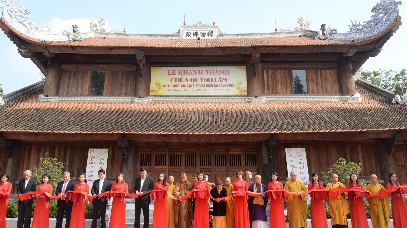 Khánh thành dự án tu bổ, tôn tạo Chùa Quỳnh Lâm - Di tích quốc gia nhà Trần tại Đông Triều