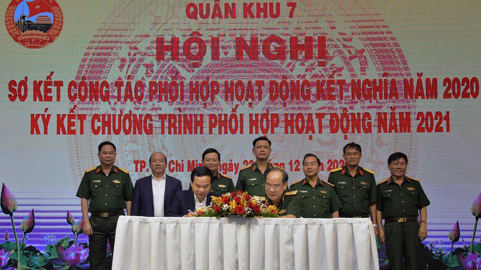 Quân khu 7 sơ kết hoạt động kết nghĩa với Đài Tiếng nói Việt Nam và các đơn vị khác