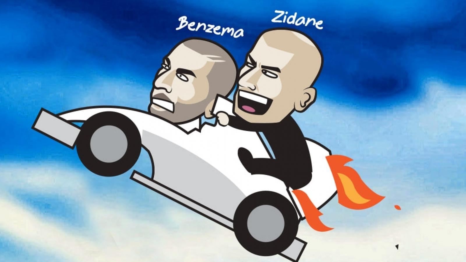 Biếm họa 24h: Benzema cứu Zizou, đồng nghiệp hào hứng đón HLV Solskjaer