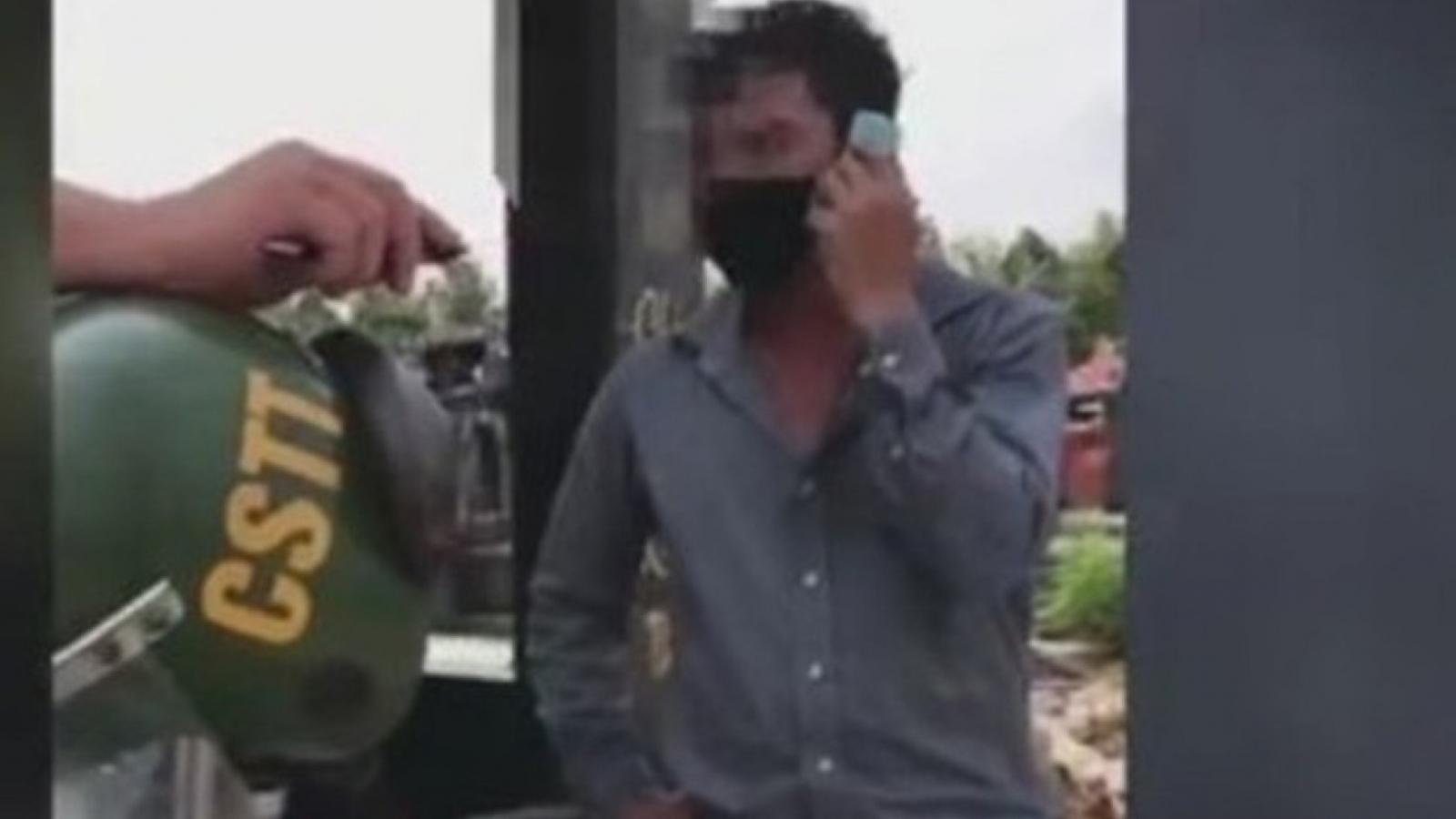 """Đồng Nai xác minh clip cảnh sát giao thông - trật tự thả xe vi phạm vì """"sếp can thiệp"""""""