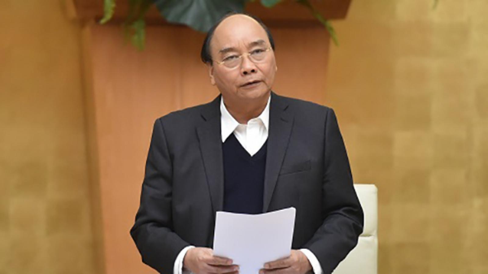 Thủ tướng chủ trì họp Thường trực Chính phủ về dự thảo Nghị quyết 01