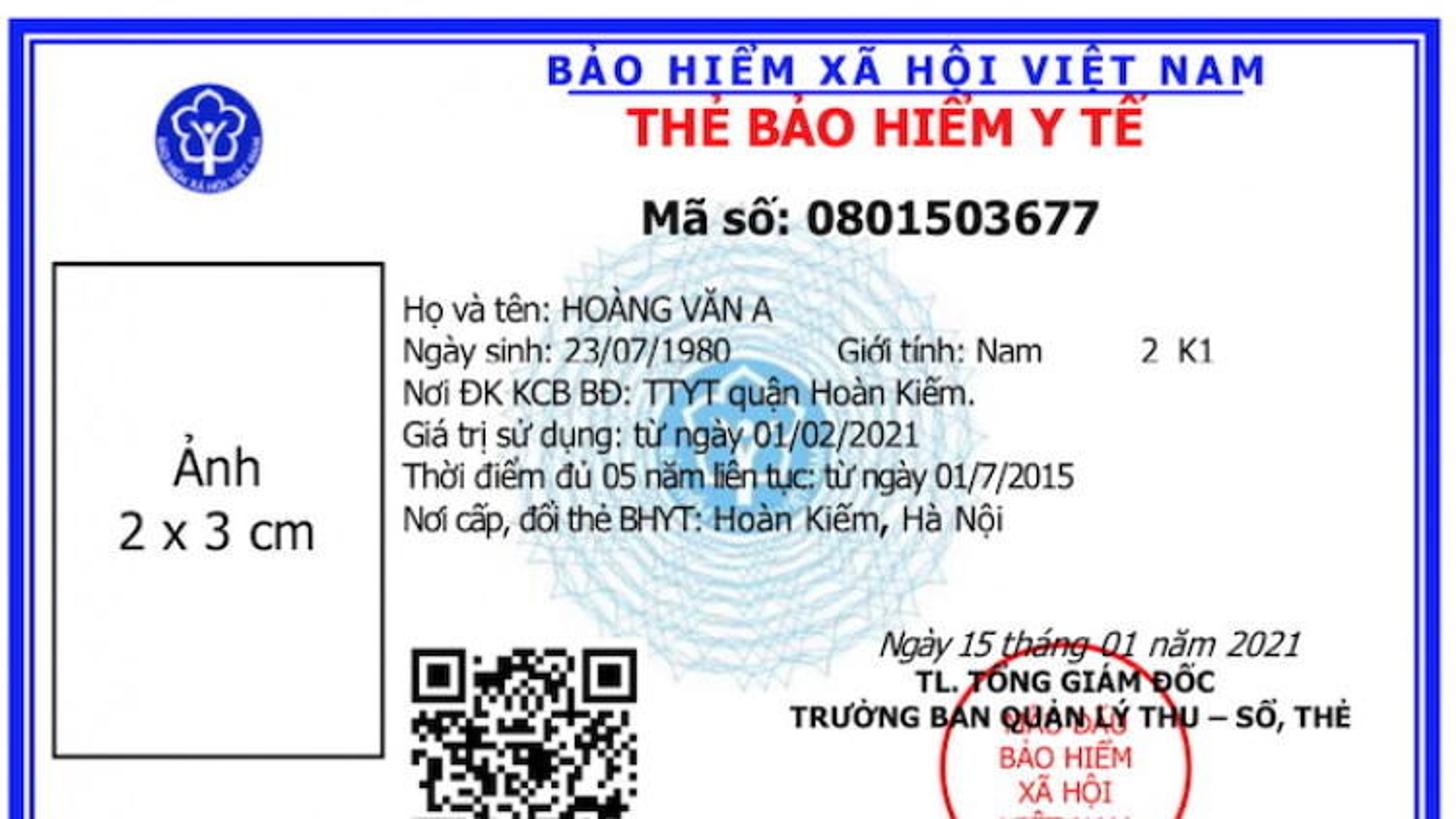 Mẫu thẻ BHYT mới vừa được BHXH Việt Nam ban hành