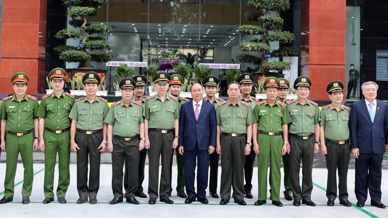 Thủ tướng dự Hội nghị Công an toàn quốc tại TP.HCM