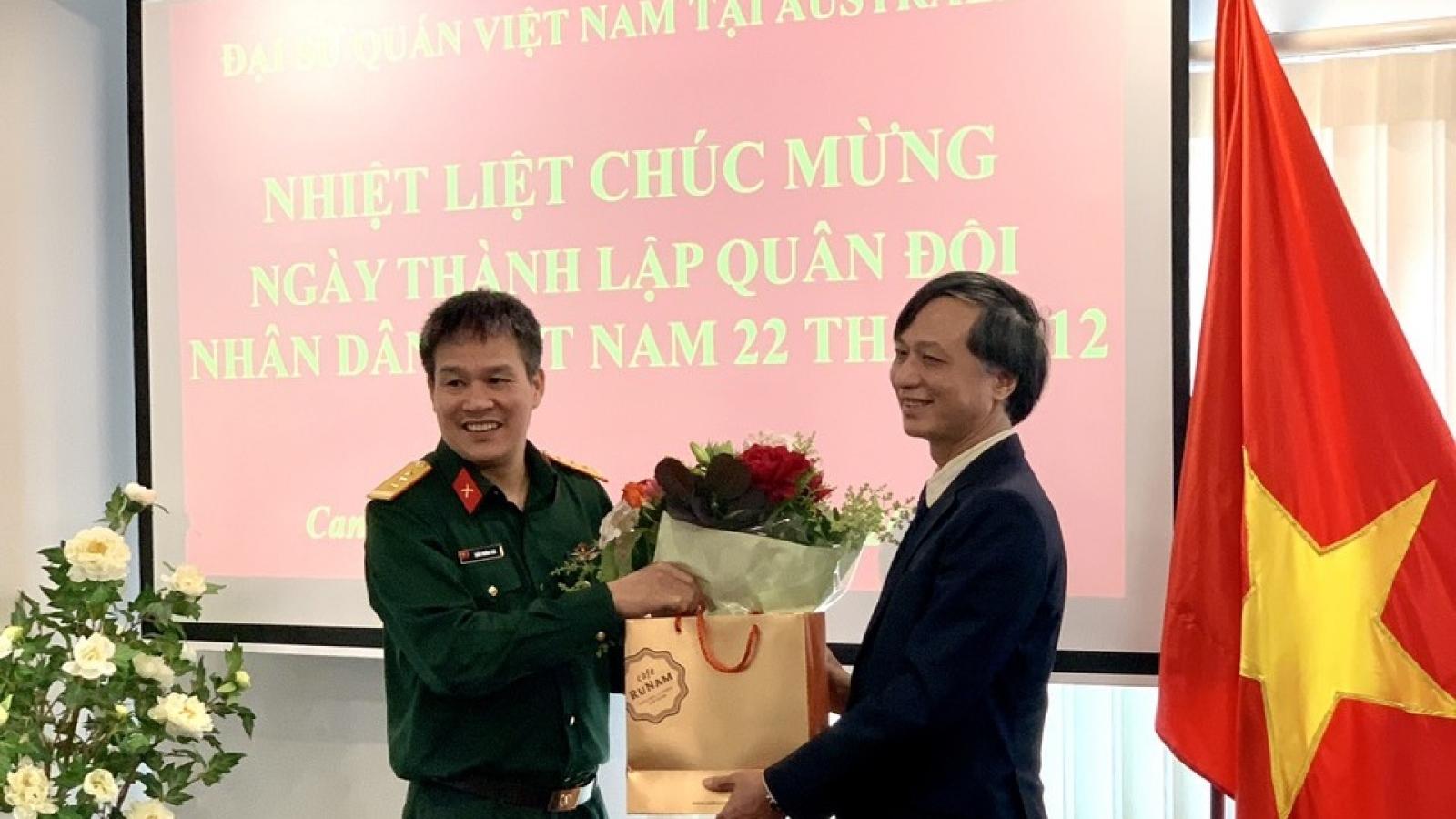Kỷ niệm 76 năm ngày thành lập Quân đội Nhân dân Việt Nam tại Australia