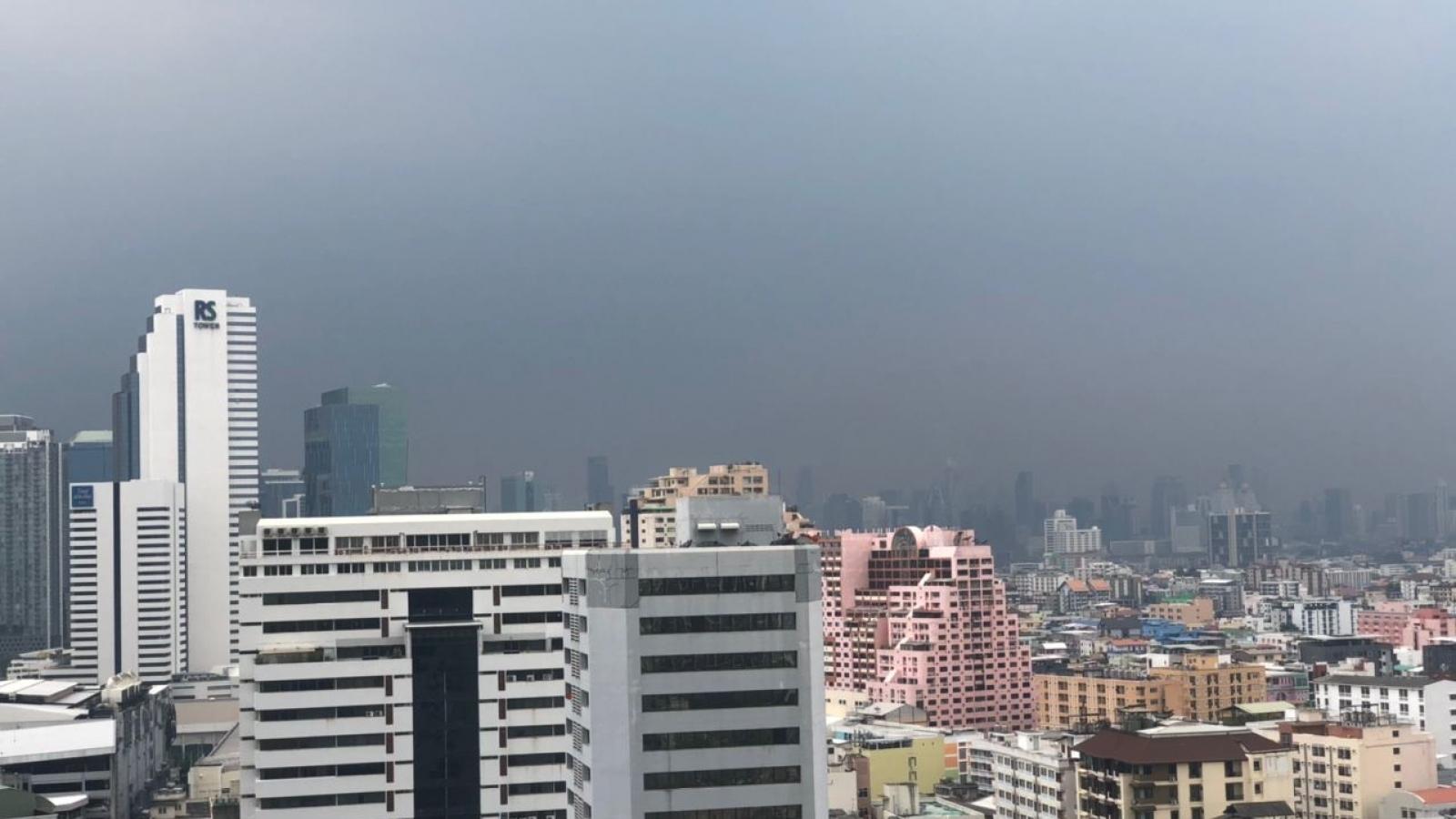 Thủ đô của Thái Lan hứng chịu ô nhiễm bụi mịn