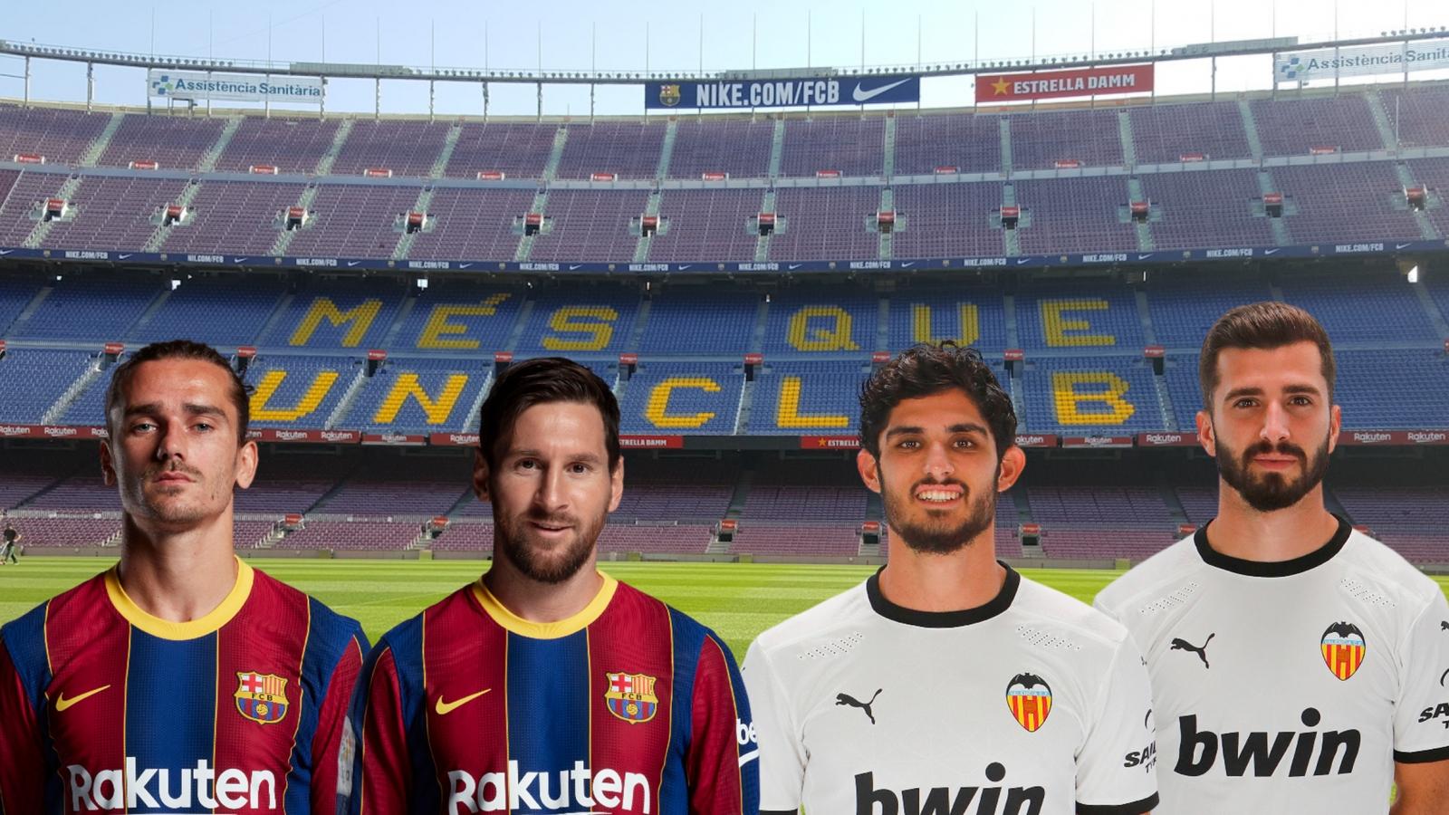 Dự đoán kết quả, đội hình xuất phát trận Barca - Valencia